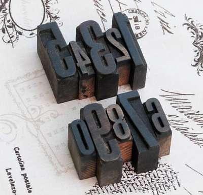 0-9 Numeri-mix Legno Cantieri Cantieri Legno Numeri Numero Timbro Vintage Wood Type Alt- Rafforza Tendini E Ossa