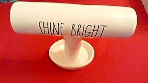 RAE-DUNN-Ceramic-LL-SHINE-BRIGHT-Bracelet-Ring-Jewelry-HOLDER-New-w-tag