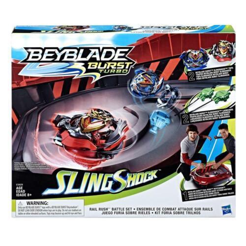 Hasbro Beyblade Arena SlingShock Rail Rush Battle Set Duell Kreisel