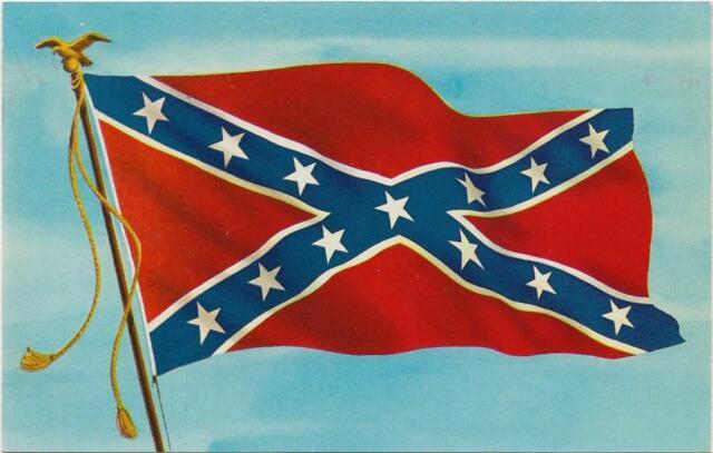 Historical Banner General Pgt Beauregard Design Confederate Postcard X