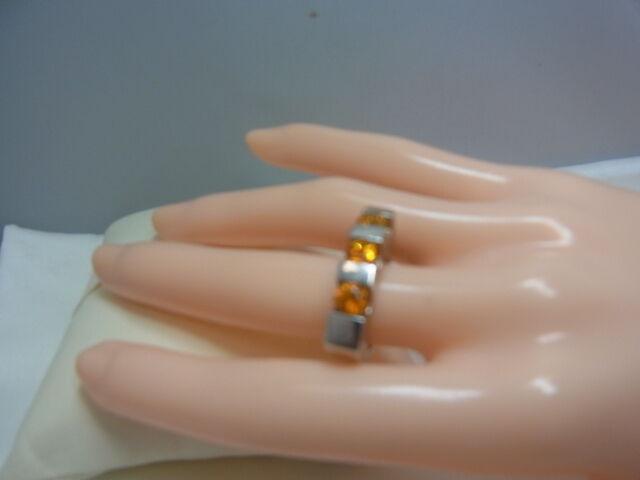 925er silverring mit goldtopas Ringgroße 49 Kopfbreite 5,2 mm gewicht 9,4 gramm