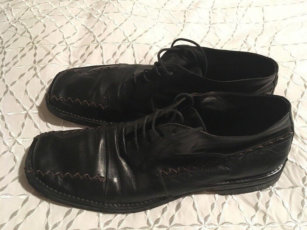 Jo Ghost nos Encaje Negro Zapatos botas Talla  46 Hecho en Italia