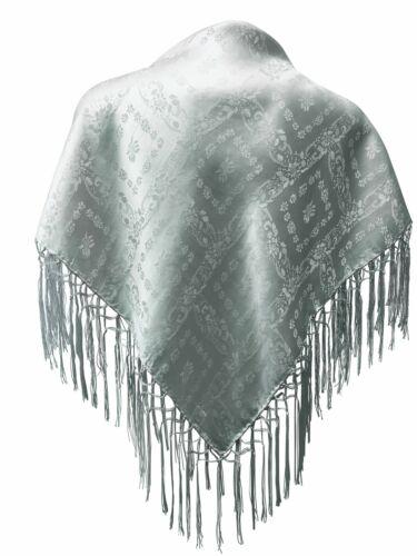 Seidentuch Dirndl-Trachtentuch Tuch 75 x 75cm Dirndltuch reine Seide Fransentuch