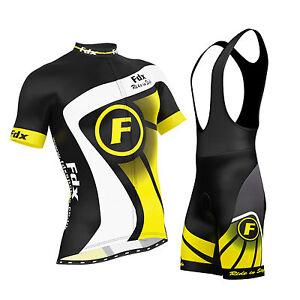 FDX-Mens-Cycling-Jersey-Half-Sleeve-Top-Racing-Team-Biking-Top-Bib-shorts-set