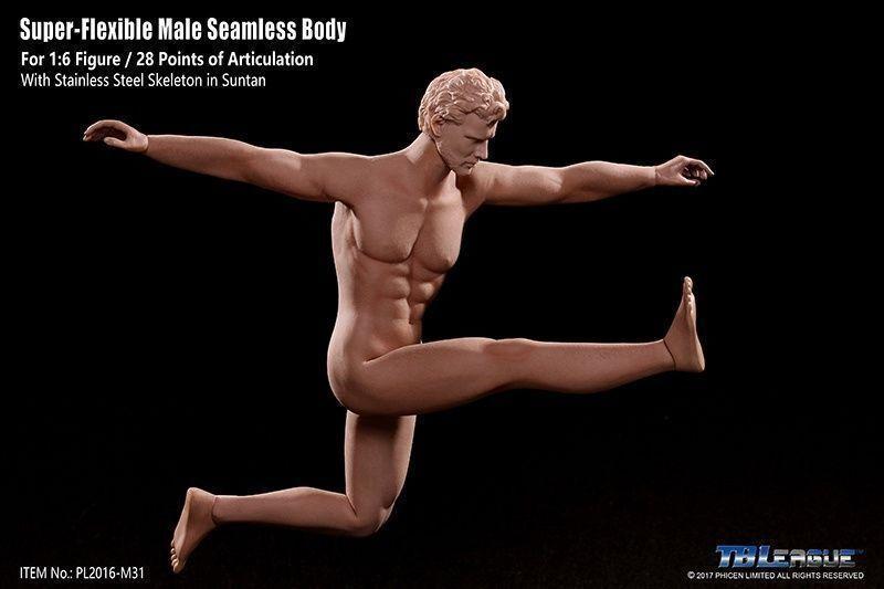 1 6 Steel Seamless Male Muscular Muscular Muscular Body Figure TBLeague Phicen M30 M31 M32 M33 M34 7d39f1