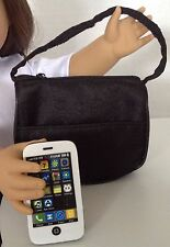 """Phone and Purse for American Girl Doll 18"""" Accessories SET Black"""