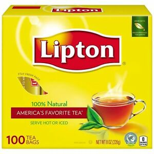 lipton tea bags 100 natural tea original regular 100 count