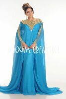 Royal DUBAI VERY FANCY EID KAFTAN abaya Ladies Maxi Dress Wedding gown 4164