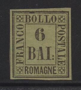Romagne-1859-b-6-verde-giallo-ottimamente-marginato-cert-Raybaudi