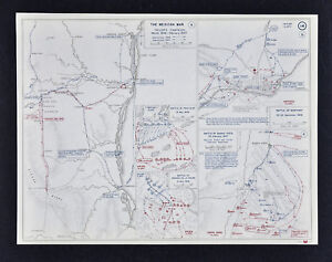 West Point Map Mexican American War Battle Buena Vista Palo Alto