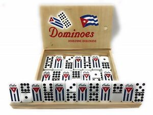 Double Nine 9 Doble Nueve Cuban Flag Dominoes Board Game