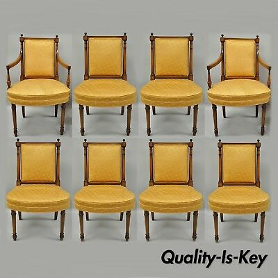 Tremendous 8 Maslow Freen French Empire Directoire Style Mahogany Dining Chairs Ebay Pabps2019 Chair Design Images Pabps2019Com