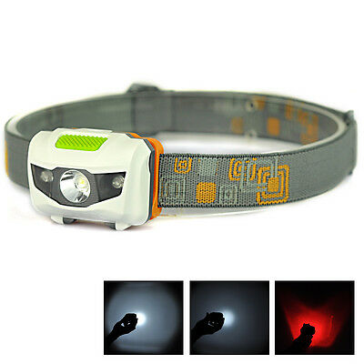 300Lumen R3+2LED Mini Super Bright Headlight Headlamp Flashlight Torch Lamp
