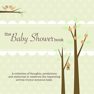 THE BABY SHOWER BOOK~Guest game, predict baby stats, give advice/wishes~<wbr/>Green
