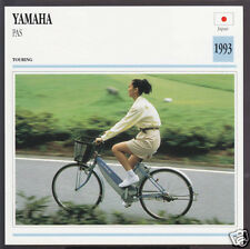 1993 Yamaha PAS Pedal Cycle Electric Bicycle Bike Motorcycle Photo Spec Card