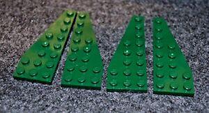 2 Pair P # LEGO Plate Wing Plate 3x8 8x3 Green Dark Green 50304 50305