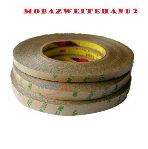 2 METRI DI BIADESIVO 3M FORTE 8 mm,10 mm PER BRICOLAGE,LED,STRISCE IN GENERE