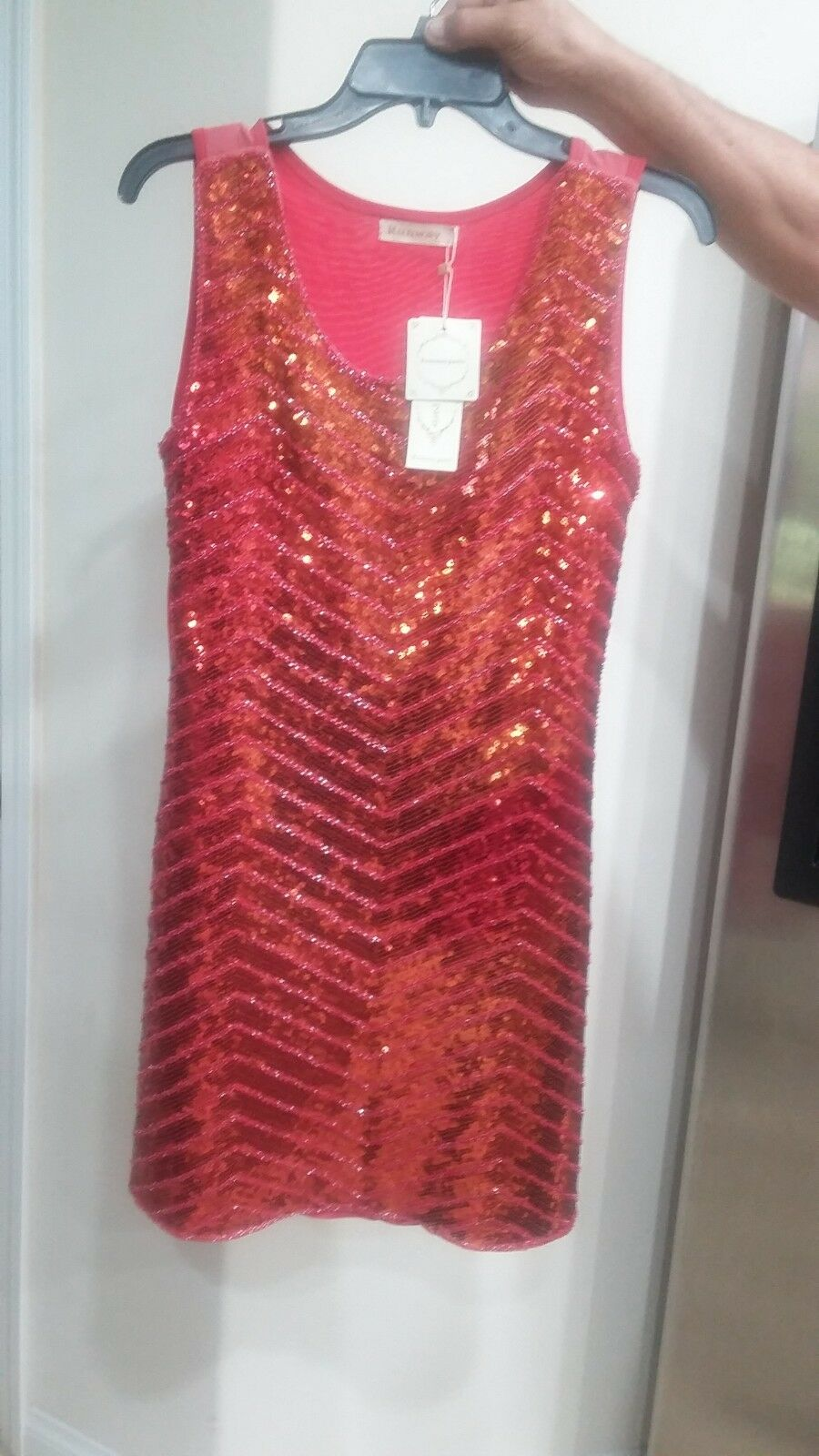 Vintage sequin dress runaway Paris
