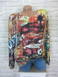 Feinstrick Shirt Bluse Tunika Pullover Pulli Blumen 38 40 42 neu oversize rosa