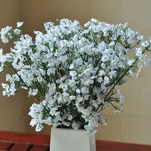 4X-Fake-Bouquet-Blanco-Artificial-Party-Wedding-Gypsophila-Baby-Breath-Home-VP