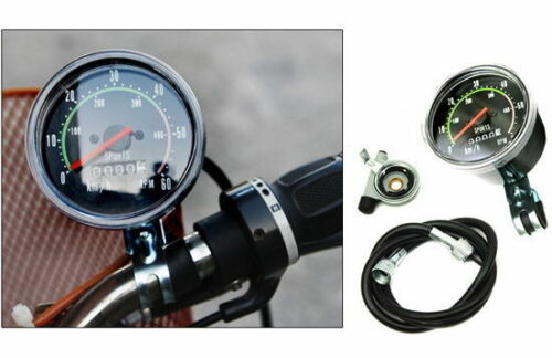 Bicycle Cycling Speedometer Odometer Distance Speed Meter Analog M/_o