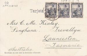 APH548-Argentina-1904-3-x-undivided-back-picture-postcards-to-Launceston