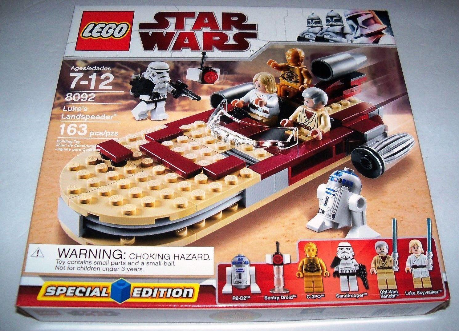 RETIROT Star Wars Lego 8092 LUKE'S LANDSPEEDER SPECIAL EDITION w/ BOX & INSTRUCT
