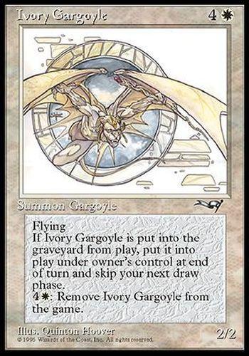 Gargouille d/'ivoire Alliances #7 ENGLISH Magic MTG ▼▲▼ Ivory Gargoyle