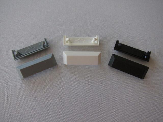 Wasserschlitzkappen 20 Stk für Alu-Fenster Farbe schwarz System Schüco Orig