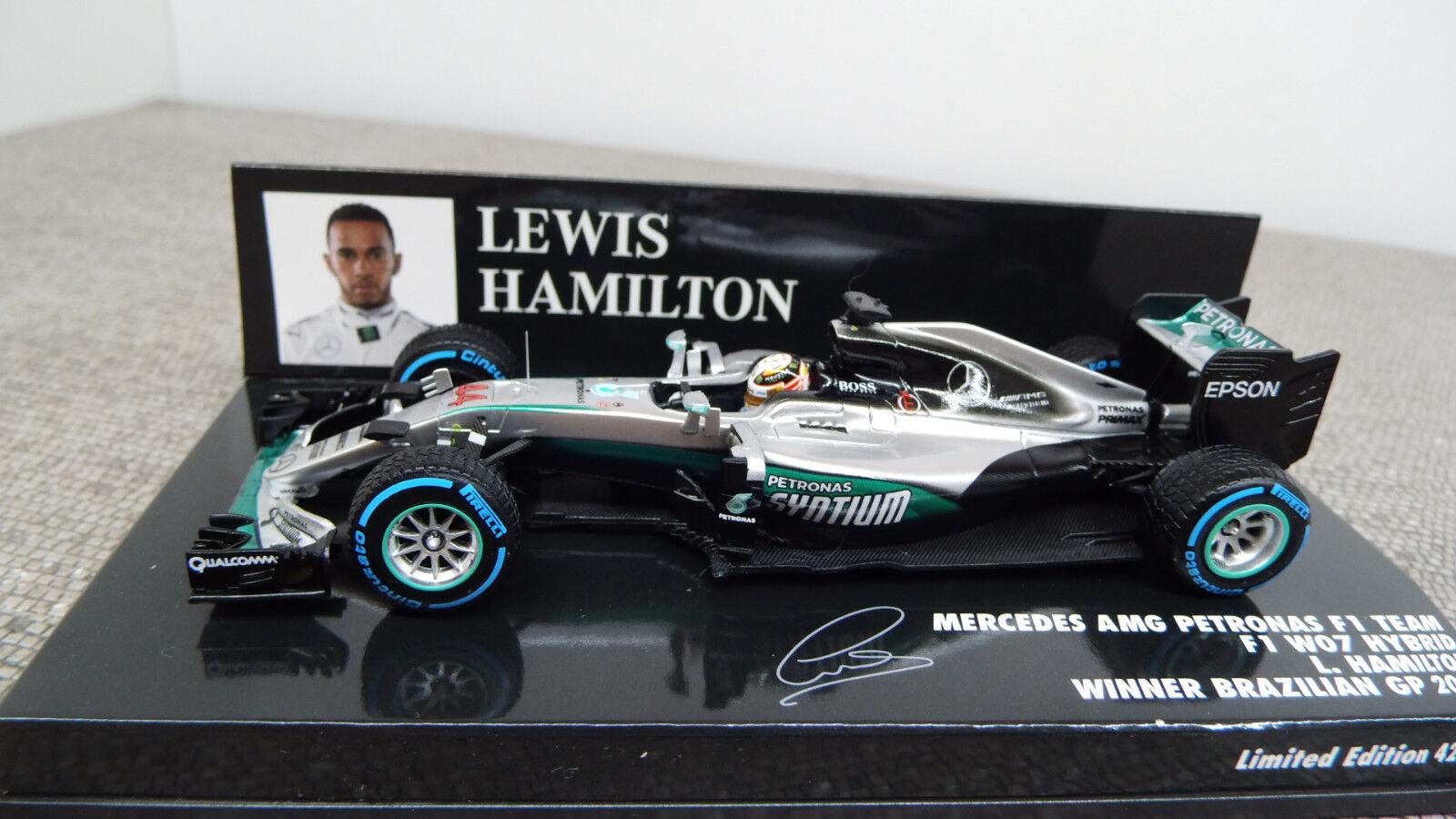 Minichamps 417160644 MB AMG Petronas F1 W07 Hybrid L. Hamilton 1 43 NEU OVP