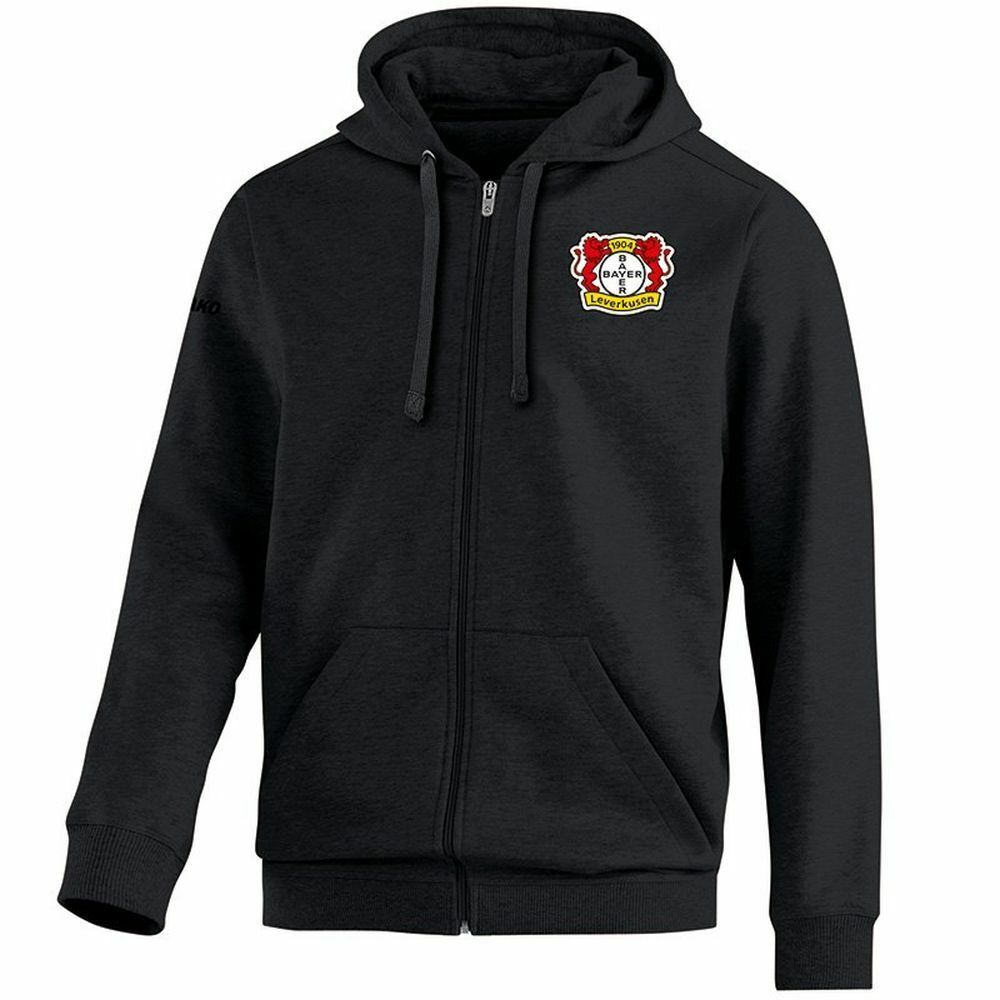 Jako Fußball Bayer 04 Leverkusen Kapuzenjacke Team Damen Jacke Frauen schwarz