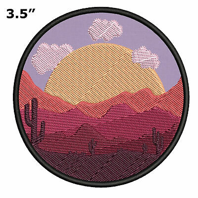 Sew-On Decorative Souvenir Applique Mojave Desert Embroidered Patch Iron-On