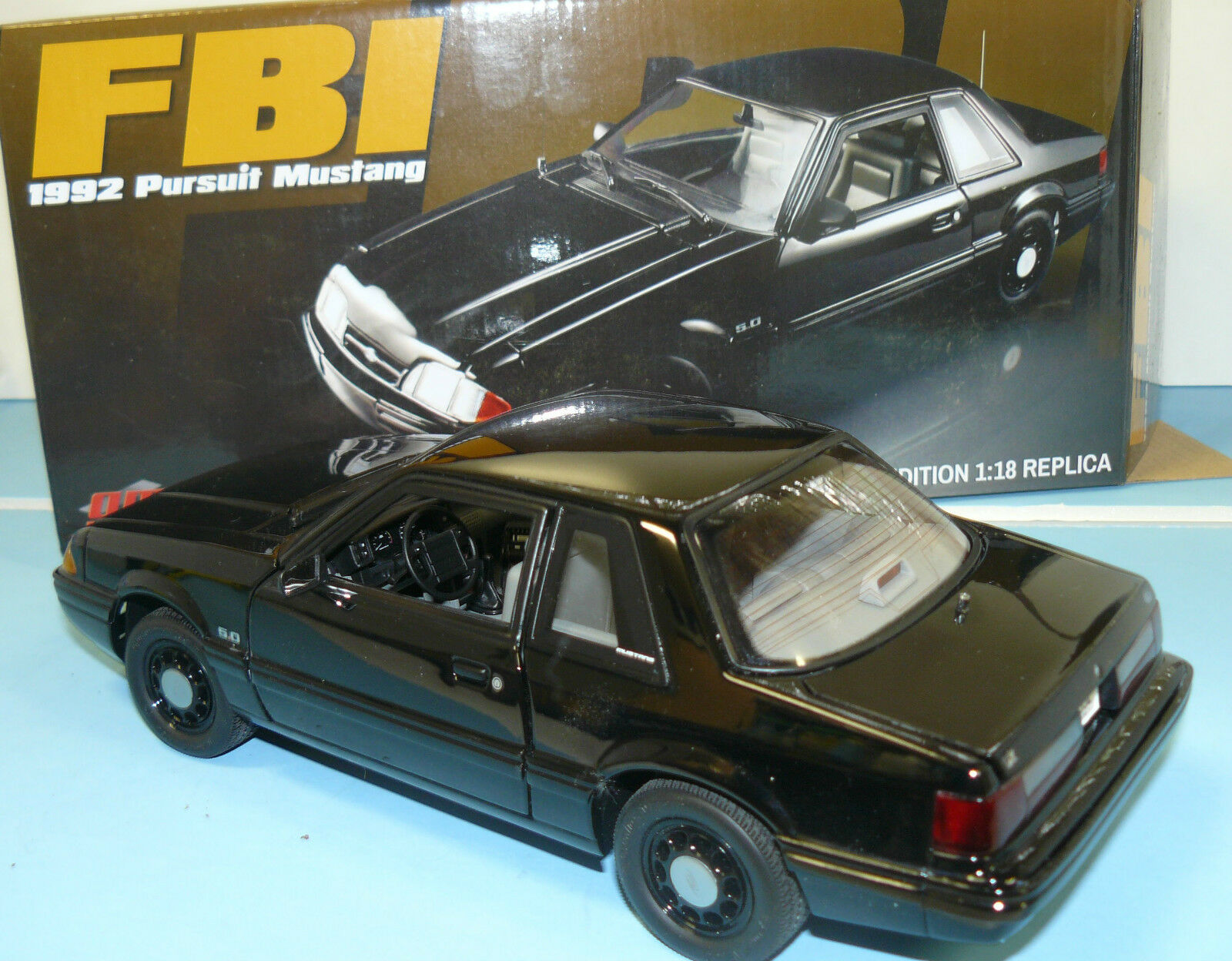 1 18  ACME 1992 Mustang FBI persuit car, new in the box  1 of 948
