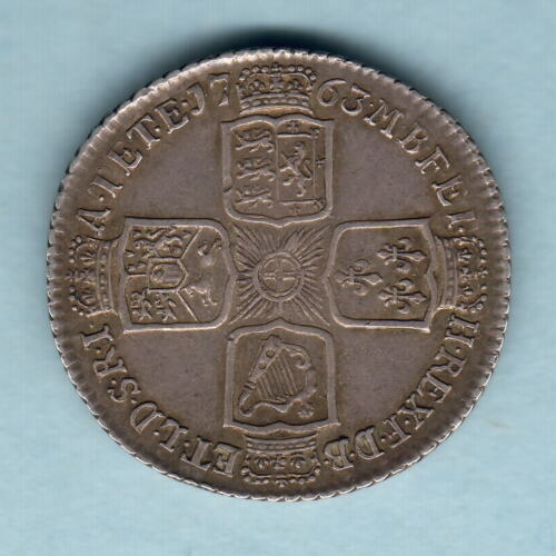 Great Britain. 1763 George 111 Northumberland Shilling.. gVF Trace Lustre