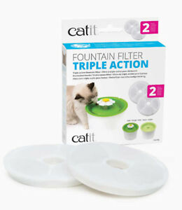 Catit-Senses-2-0-TRIPLE-ACTION-Filters-For-3L-Flower-Fountain-2-PACK-Filters