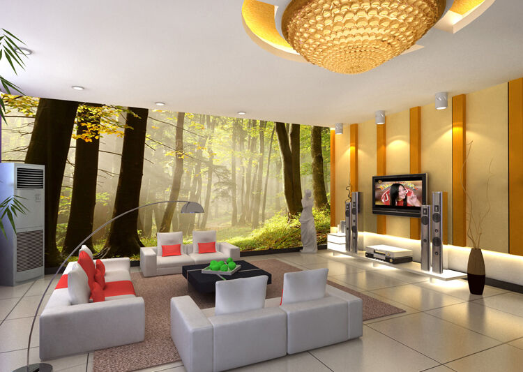 Huge 3D Sunshine Forest Wall Paper Wall Print Decal Wall Deco Indoor Wall Murals