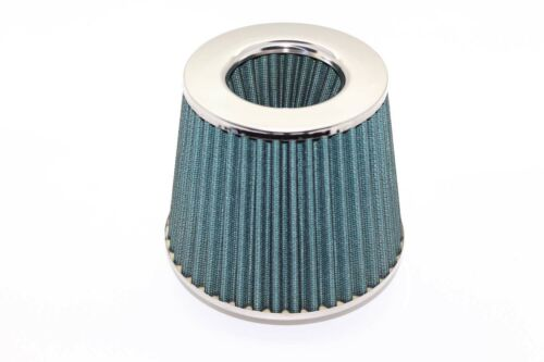 Twin Cone Universal Air Filter 3 ports W155*H130MM  76mm ID Neck Green