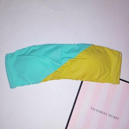 Victoria Secret Swim Bikini Top Colorblock 50//50 Black White Bandeau Strapless