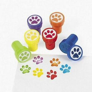 Pack-of-6-Plastic-Paw-Print-Self-Ink-Stampers-Great-Party-Bag-Fillers