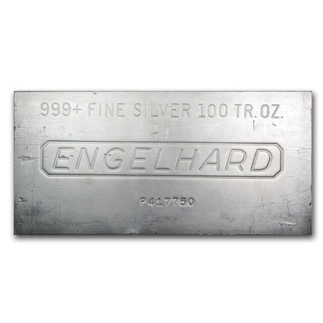 100 oz Engelhard Silver Bar - SKU #166597