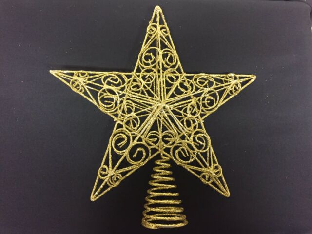 5dd1a1a8eb23 30cm Large Swirls Silver Gold or Red Star Christmas Tree Topper ...
