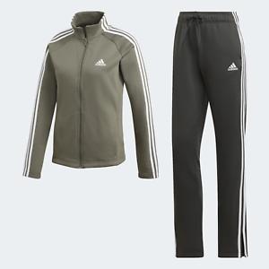 Adidas-Damen-Leichtathletik-Vlies-A-Weich-Fleece-Trainingsanzug-Gruen