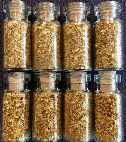 10 Large Bottles of Gold Leaf Flakes ..... Lowest price online !!