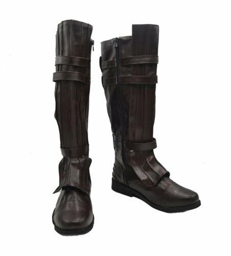Darth Vader Anakin Skywalker Cosplay Shoes Brown Boots Custom Made