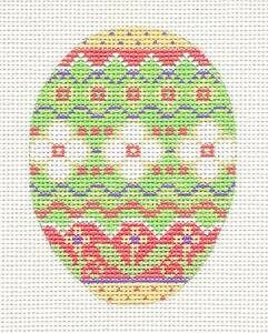 *NEW* Easter Egg Pastel Multi-Color handpainted Needlepoint Canvas by Danji