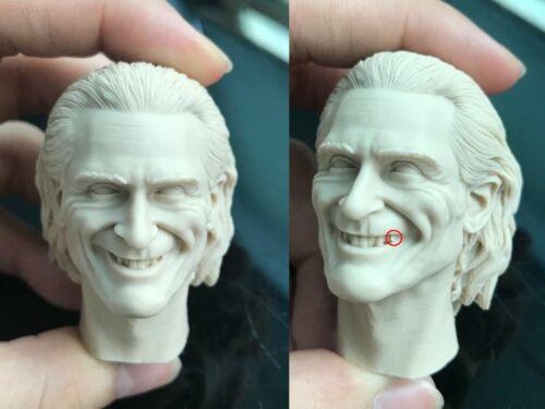 flaw Blank 1//6 Joker Joaquin Phoenix Head Sculpt Unpainted Fit 12/'/' Body