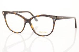 Tom Ford TF5511 brown havana cat eye frame 1-1.8 reading eyeglasses NEW $355