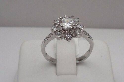 Fino Anillo De Diseñador señoras plata esterlina 925 con Diamante de 4 CTS//Talla 5,6,7,8,9