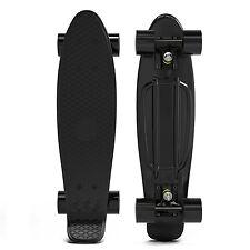 Black Classic Penny Style Cruiser Board 22 Retro Plastic Skateboard Complete