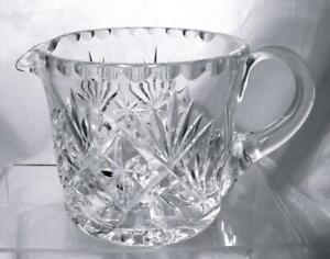Georgian-Crystal-Cut-Glass-Milk-Water-Jug-Chatsworth-Pattern-Christmas-Present